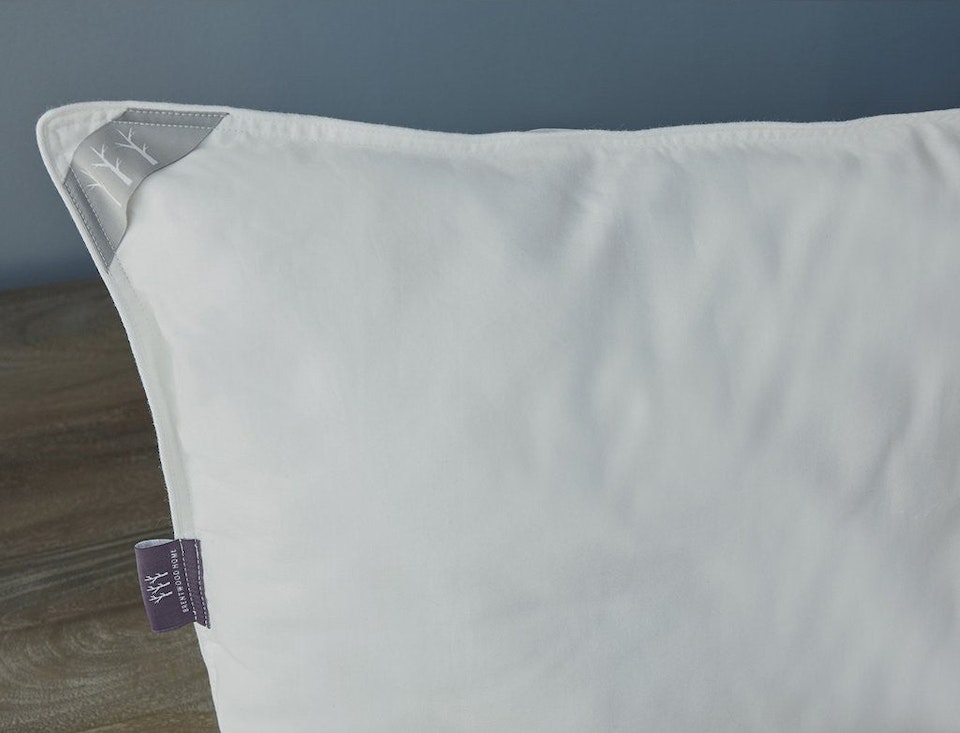 white natural latex & kapok pillow